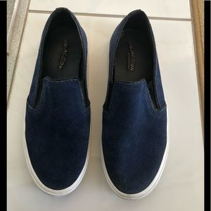 KENNETH COLE REACTION BLUE SUEDE SLIP ON SNEAKER 8